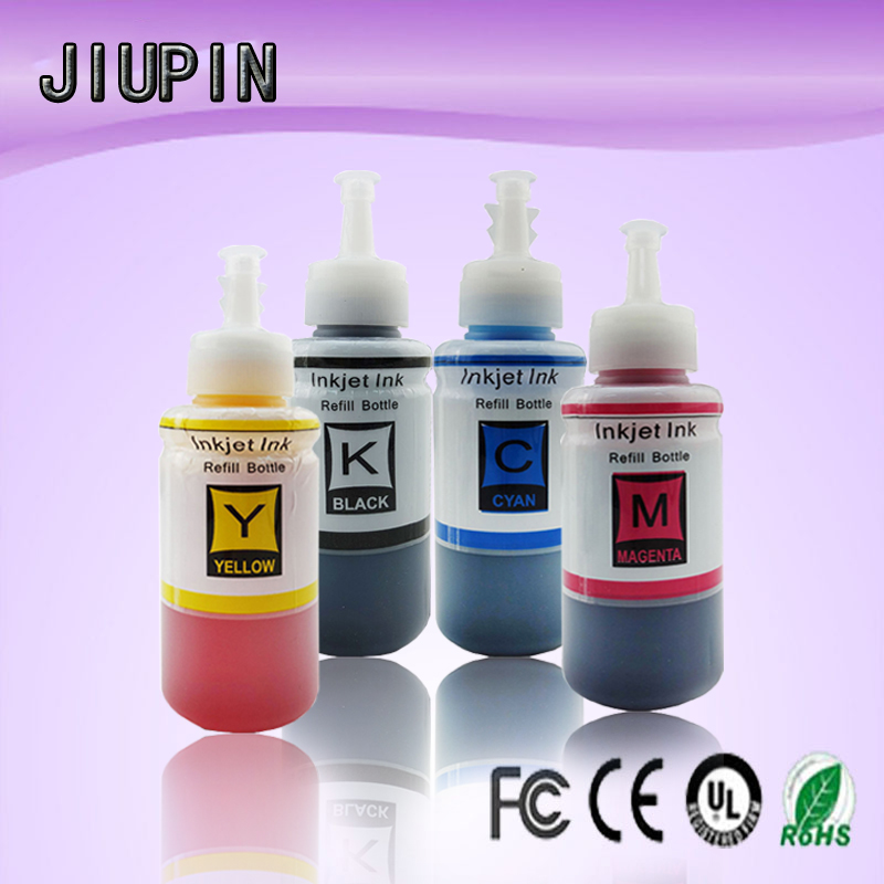 4 Color Dye Based Refill Ink Kit for <font><b>Epson</b></font> L100 L110 L120 L132 L210 L222 L300 L312 L355 L350 L362 L366 L550 L555 <font><b>Printer</b></font> Eco Ink image