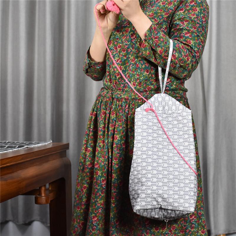 Women Tote Yarn Storage Bag Large Capacity Crochet Knitting Yarn Storage Organizer Bag Wool Ball Holder Tool Case Basket For Mom (6)