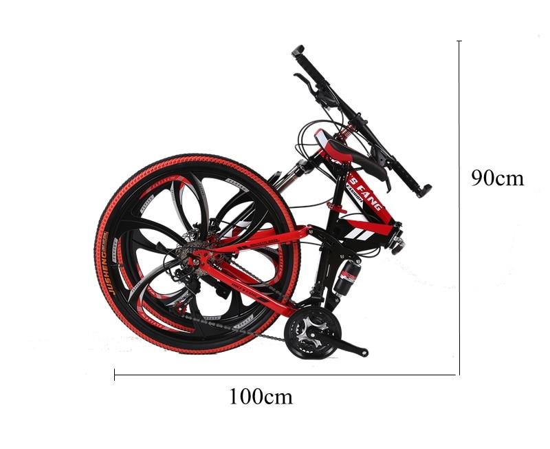 "HTB1Aouacsj B1NjSZFHq6yDWpXa5 wolf's fang  Bicycle folding Road Bike 21 speed 26""inch mountain bike brand bicycles  Front and Rear Mechanical Disc Brake"