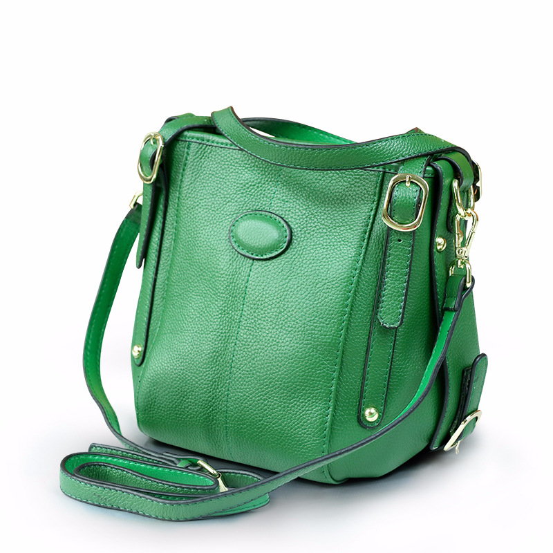 Lady Cowhide Leather Bag Bucket New Fashion Handbag 2018 Style Women Messenger Bags Sac A Main Bolsa Feminina fashion women pu leather handbag vintage famous brand clutch bag messenger bags simple style ruffles bucket bolsa new xa885h