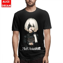 T shirt Unisex NIER AUTOMATA HOT NEW DESIGN Tee Shirt Quality T Shirt Round Collar S-6XL Short-sleev Summer 100% Cotton Camiseta t shirt casual cowboy bebop tee shirt unique design camiseta round collar s 6xl tee birthday gift t shirt 3d print