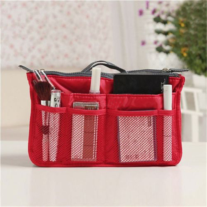 Yanzi Hot Women Cosmetic Bag Organizer In Double Zipper Portable Multifunctional Travel Pockets Makeup N658 Bags Cases From