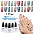 Elite99 10ML Hot Colorful Glitter UV Nail Gel Polish Pure Soak Off UV LED Starry Gel Polish UV Nail Gel for Nail Art