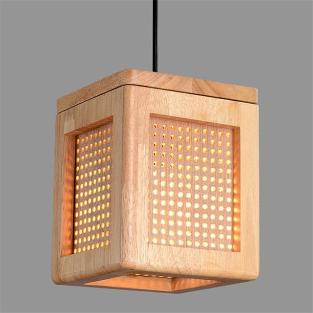 wooden square pendant