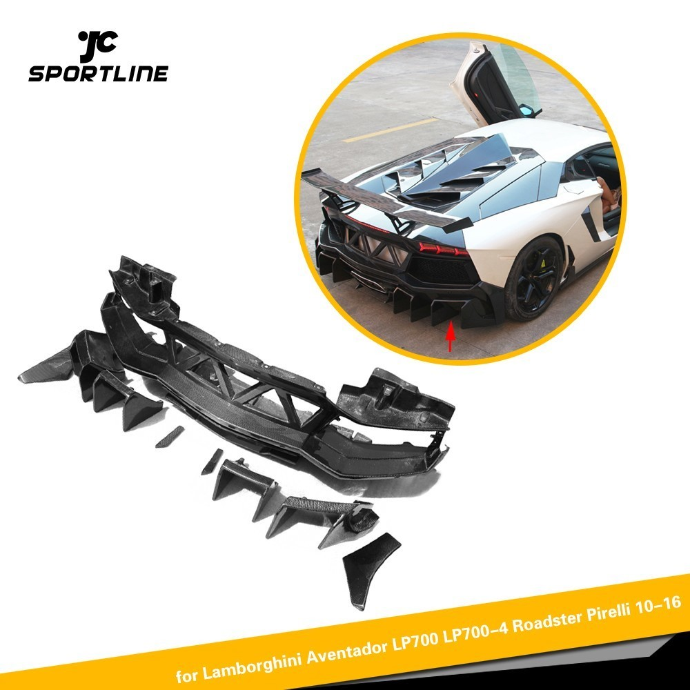 Bumpers Latest Collection Of Carbon Fiber Car Side Skirts Body Extensions Lip For Lamborghini Aventador Lp700 Lp700-4 Roadster Pirelli 10-16 D Style A Great Variety Of Models