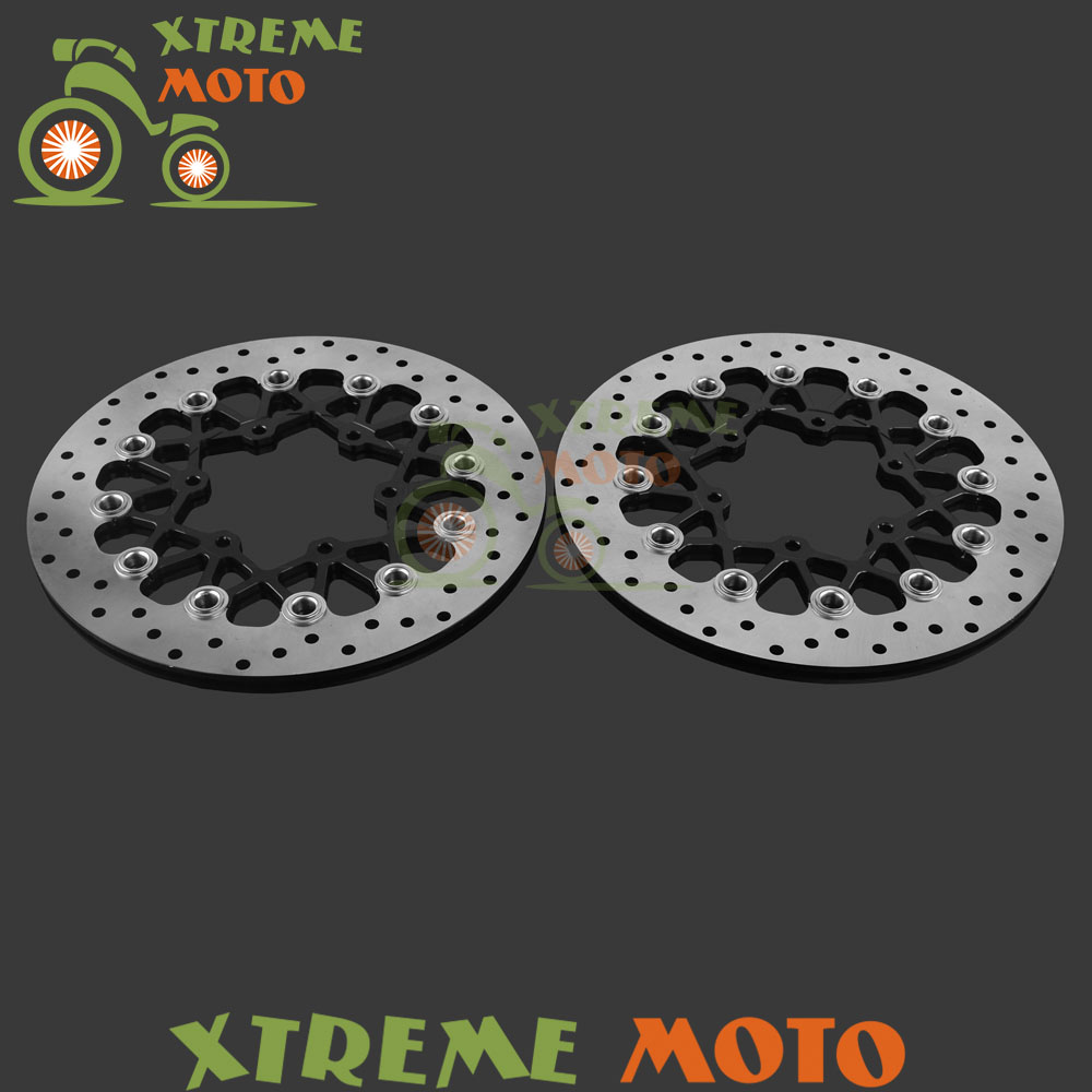 Motorcycle Front Floating Brake Disc Rotor For Suzuki GSXR600 GSXR750 2008 2009 2010 2011 2012 2013 2014 GSXR1000 2009-2014 free shipping motorcycle brake disc rotor fit for suzuki dl1000 v strom 2002 2010 front