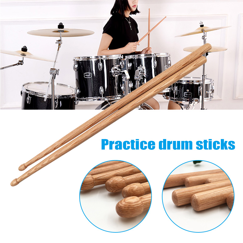 1 Pair Classic 5A Drum Sticks Oak Wood for Students Adults Training Musical Accessories YS-BUY