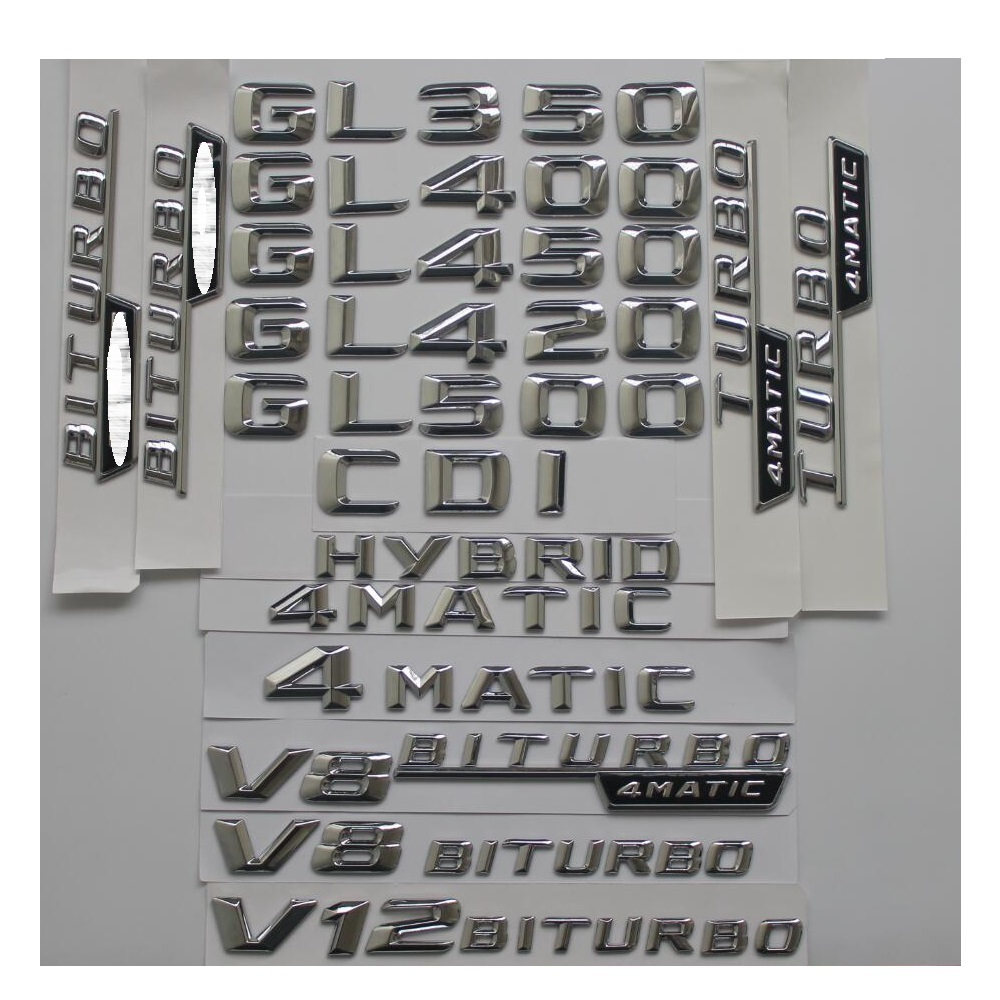 Gloss Black GL 550 Letters Trunk Emblem Badge Sticker for Mercedes Benz GL550