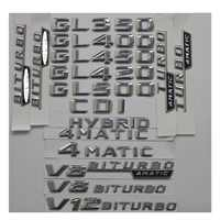 3D Chrome Trunk Letters Badge Emblem Emblems Sticker for Mercedes Benz GL350 GL400 GL450 GL500 GL550 GL420 V8 BITURBO 4MATIC AMG
