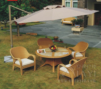 5 Pcs Modern Luxury Wicker Rattan Garden Dining Sets With Aluminum Frame Transport By Sea
