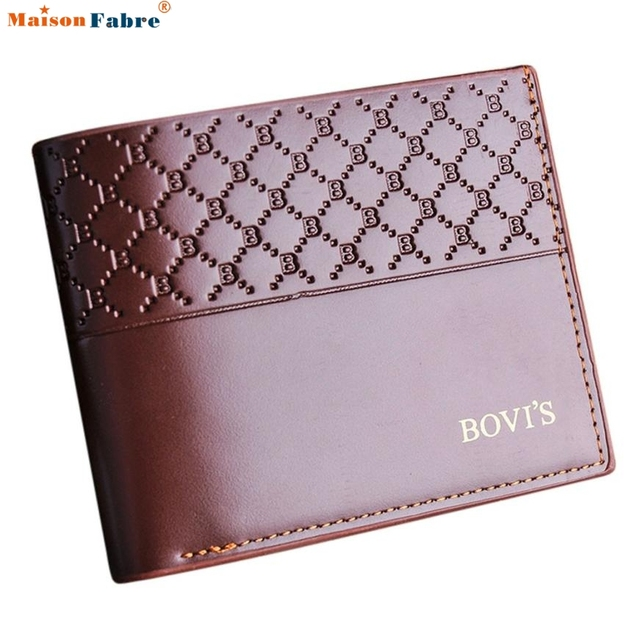 Men pu Leather high quality wallet Card Cash Receipt Holder Organizer Bifold Wallet Purse  Valentine gua