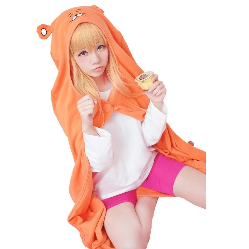 HSIU Umaru Doma Of Himouto! Umaru-chan Cosplay Costumes Cloak Shirt Tight Pants Wig Halloween Costume XIUQINJIA Cosplay