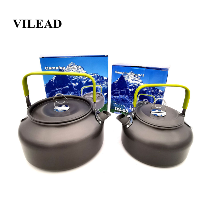 VILEAD 4 Sizes Portable Ultralight Water Kettle Aluminum Outdoor Hiking Camping Cookware Survival Bushcraft Teapot Coffee Pot