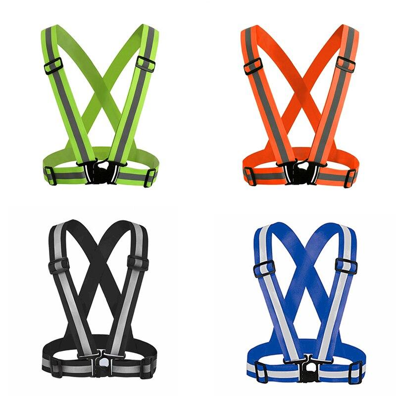 20 pièces gilet de sécurité haute visibilité ceinture élastique réfléchissante gilet de sécurité pour courir cyclisme Sports vêtements de plein air