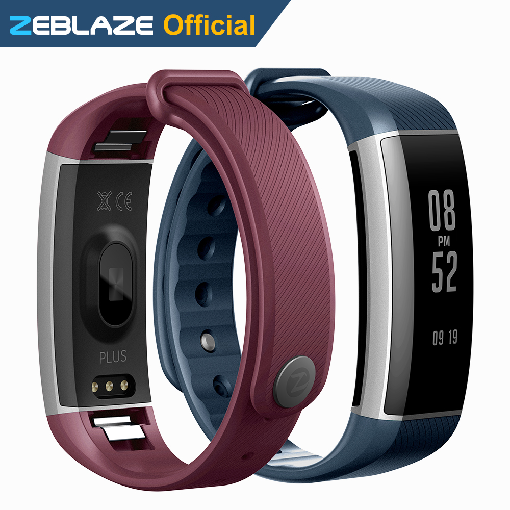 Original Zeblaze Zeband Plus Smart Wristband Pedometer Heart Rate Monitor Fitness Bracelet BT 4.0 IP67 Waterproof Smart Bracelet