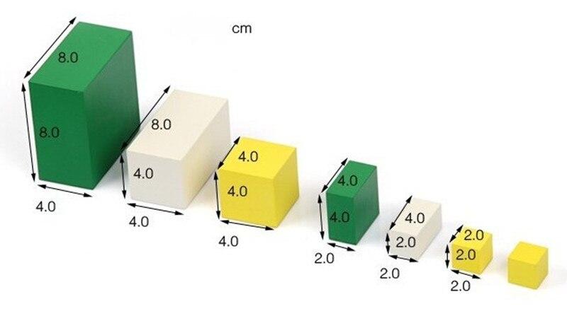 Juguete de madera para bebé Juguete Montessori Power of 2 Cube Math - Educación y entrenamiento - foto 5