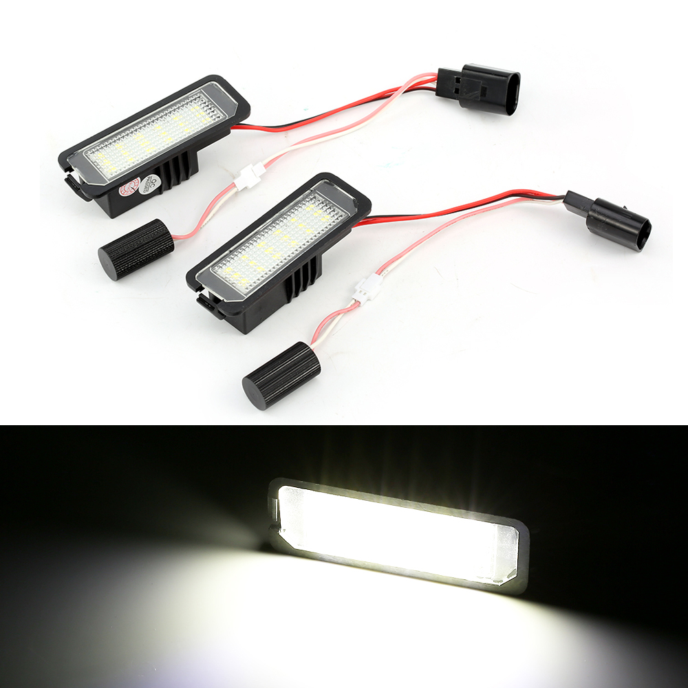 Auto Light for <font><b>VW</b></font> MK5 GTI MK6 Golf 5 Glof 6 Golf 7 Xenon White <font><b>Led</b></font> Number License Plate Light Kit <font><b>Canbus</b></font> Error Free Car-Styling image