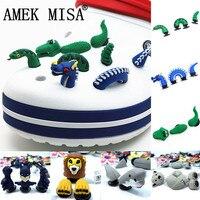 Nouveauté 3D décoration de chaussures de jardin dessin animé animaux Style Croc chaussure breloque accessoires donner à votre enfant le meilleur cadeau