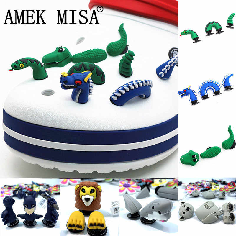 Novelty 3D Garden Shoe Decoractions Cartoon Animals Style Croc Shoe Charm Accessories Give Your Child the Best Gift