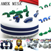 Novelty 3D Garden Shoe Decoractions Cartoon Animals Style Croc Shoe Charm Access