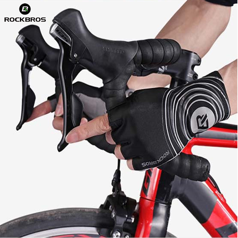 Rockbros Cycling Gloves Summer MTB Half Finger Bike Gloves Breathable Pro Pad Bicycle Gloves Mittens Guantes Luvas Ciclismo 2018