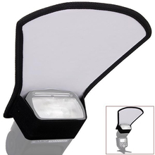 Universal Camera Flash Diffuser Softbox Silver/White Reflector for Canon Nikon Pentax Yongnuo Speedlite Photography Studio Photo