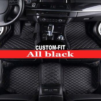 Custom Car floor mats Case for Hyundai ix25 Elantra SantaFe Sonata Solaris Tucson car-styling leather Anti-slip carpet liners