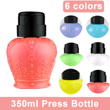 350ML Empty Travel Cosmetics Bottle Nail Art Polish Cleaner Remover Refillable Bottle Portable Dispenser Pump Tool Free Shipping