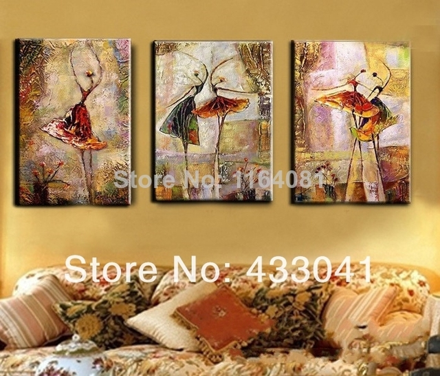 The Pictures Handmade Modern Canvas Oil Painting Wall Art Free ...