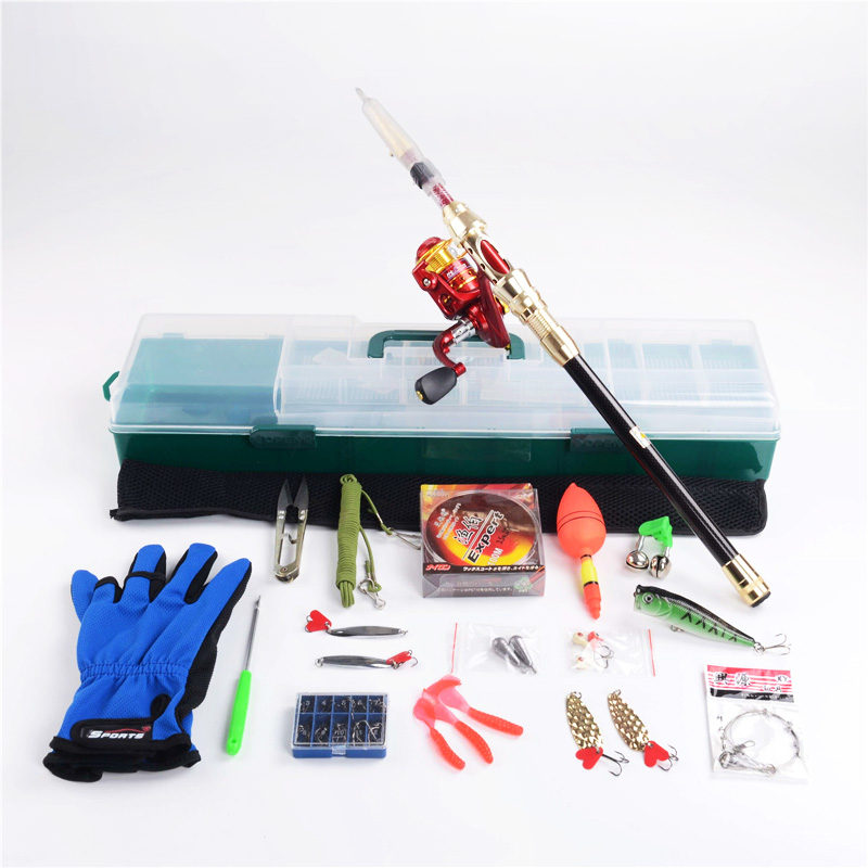 2.1m fishing rod reel and fishing tackle box set sea fishing rod spinning reel Cheapest lure fishing tackle