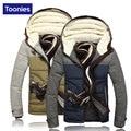 Jaqueta de inverno Para Os Homens Novo 2017 Inverno Engrosse Parka Homme Homens Jaqueta de Patchwork Inverno Manga Comprida Com Capuz Mens Inverno Parka casaco