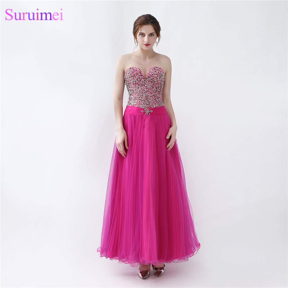 Girls Prom Dresses High Quality Tulle Beaded Corset Back Lace Up ...