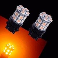PA LED 4PCS x T25 3156 20SMD 5050 LED AUTO SIGNAL TURN LIGHTS ULTRA AMBER YELLOW LED 12V