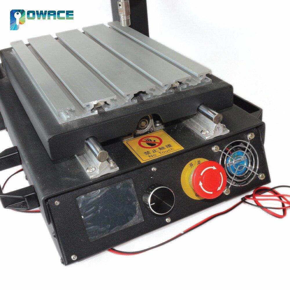 [EU SCHIFF] 3 Achse 2030 Desktop CNC Router Gravur Fräsen Maschine & Notfall stop hochfesten stahl 110 V/220 V + 400W Spindel
