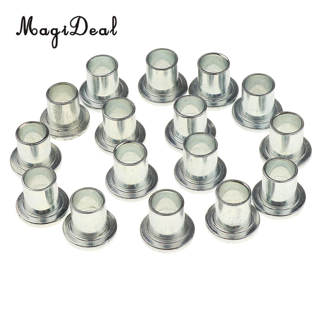 MagiDeal 16pcs Durable Iron Roller Skate Wheels Accessories Center Bearing Bushing Spacer For Longboard Parts Accessories
