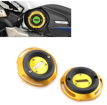 Motorcycle CNC Motor stator case Left and Right Crash Slider Guard For YAMAHA TMAX T MAX 530 SX DX 2012- 2016