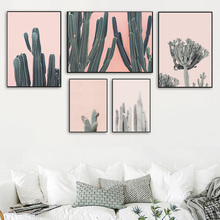 Wall Art Canvas Painting Desert Cactus Tree Plant Nordic Posters And Prints Pop Salon Pictures For Living Room Decor