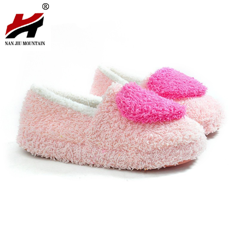 Retail!!! Lovely Ladies Home Floor Soft Women Indoor Slippers Outsole Cotton-Padded Shoes Female Cashmere Warm Casual Shoes autumn travel aviation hotel home shoes cotton padded folding slippers women men indoor floor slippers free shipping