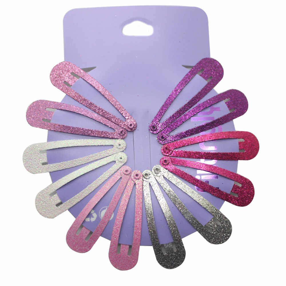 12Pcs/Set Children Snap Hair Clips Barrettes Girls Cute Hairpins Colorful Headbands for Kids Hairgrips Hair Accessories