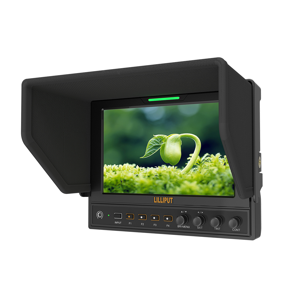 LILLIPUT 662/S 7 LED IPS HD camera field monitor 3G-SDI input output 1280 800 battery charger sunshade cover shoe mount