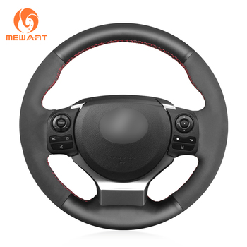 MEWANT Genuine Leather Black Suede Car Steering Wheel Cover for Lexus IS200t 2016 2017 IS250 2014 2015 IS300 IS350 IS F-Sport
