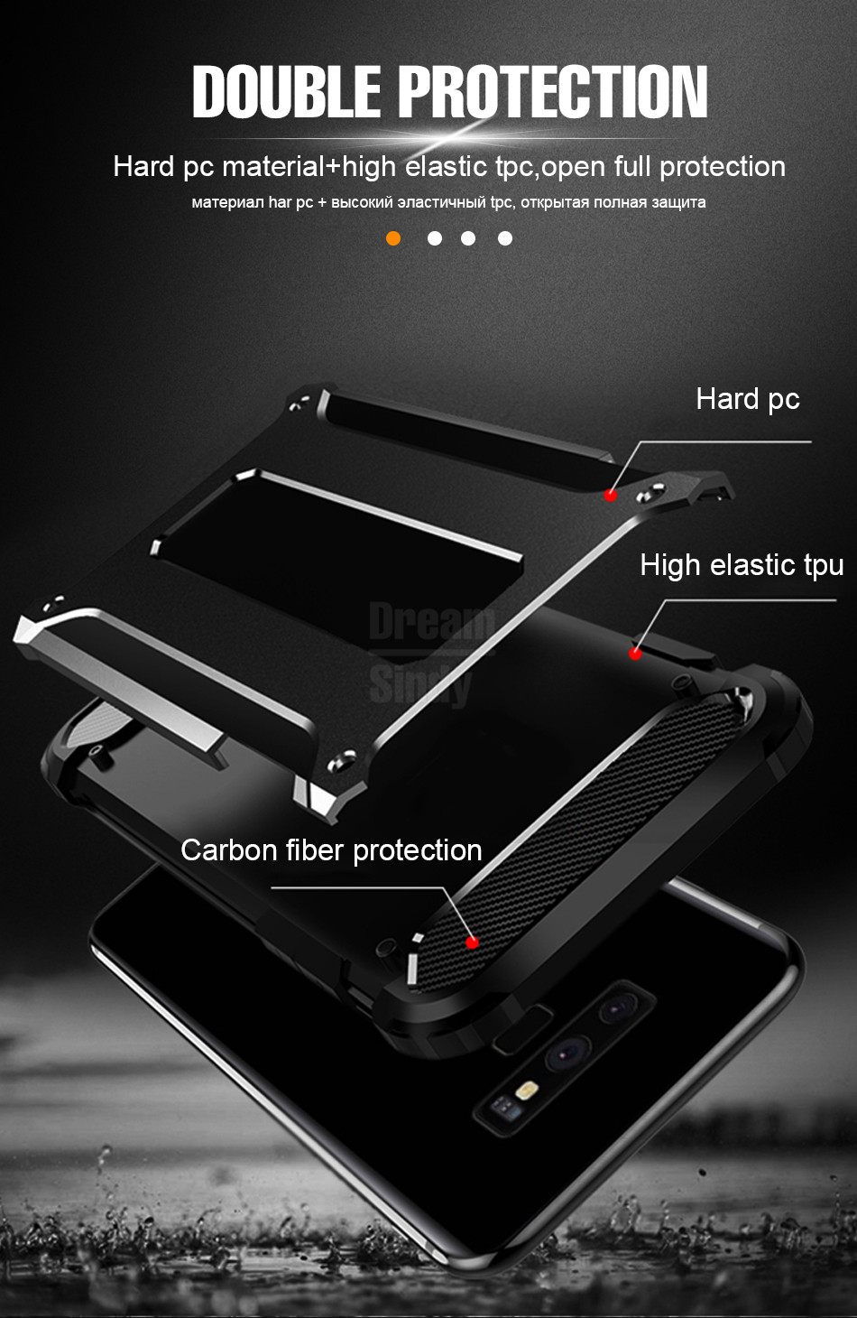 Luxury Armor Shockproof Bumper Case04