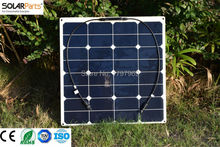 2pcs 50W Flexible Photovoltaic Solar modules with high efficiency solar cell solar panel for 12V 18650