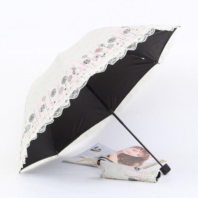 Garantía de calidad 100% bajo precio comprar online € 18.08 |Lindo paraguas De lluvia De mujer De Encaje flores sombrilla claro  paraguas plegable damas UV regalos chica Sombrillas De Encaje De arte 721  ...