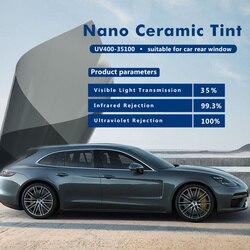 100x600 cm/39.37 x20ft 35% VLT 100% UV Warmte Afwijzing Nano Keramische Licht Zwarte Auto Getint voor Automotive en Thuis Glas verven