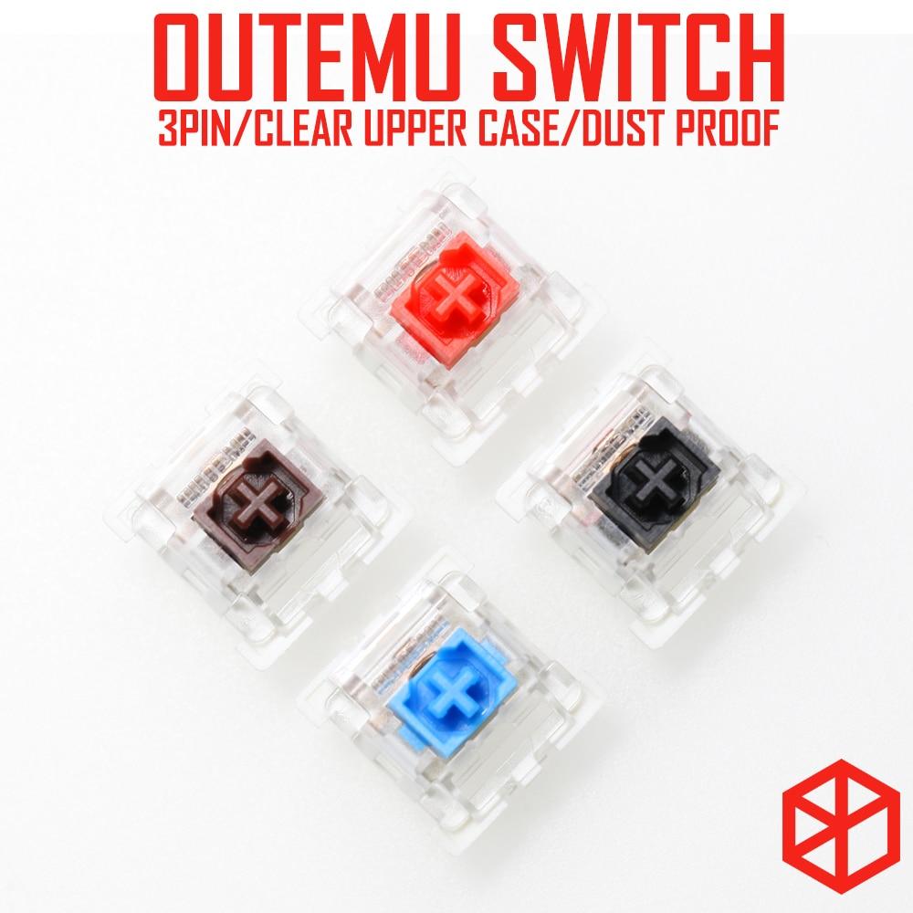 Otm Outemu 3pin Dustproof Switch For Custom Mechanical Keyboard Gh60 Xd64 Xd60 Eepw84 Gh60 Tada68 Rgb 87 104 Zz96