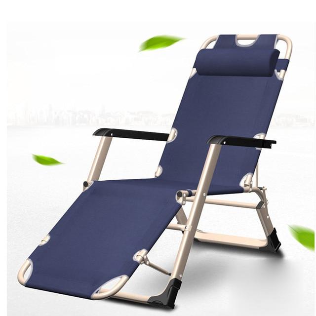 Widened Foldable Recliner Chairs Lie Flat Folding Beach Chair Non Slip  Design Legs All