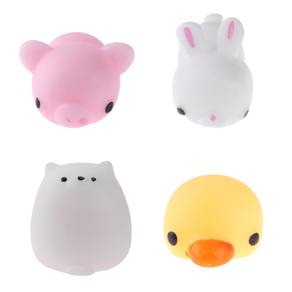 Kawaii Mini Cute Cat Squeeze Mochi Rising Toy Soft Anti Stress Ball Stretchy Cartoon Animal Stress