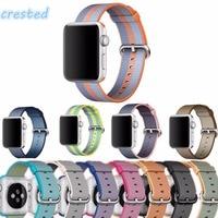 Official2 Woven Nylon Strap Band For Apple Watch 42mm 38mm Wrist Braclet Belt Fabric Like Nylon