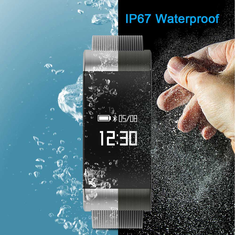A66 Smart Bracelet heart rate monitor Blood Pressure Blood Oxygen Bluetooth 4 0 Smart band Waterproof